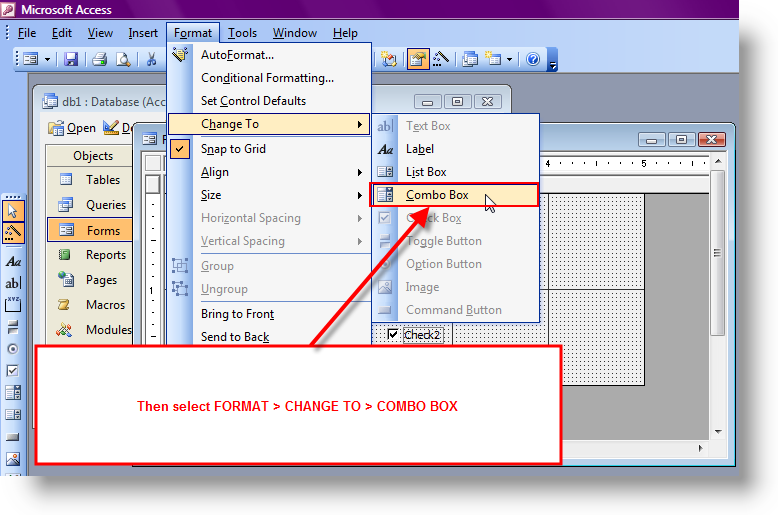 How to change a text box to a combo box (Won't work with