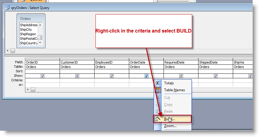 How to use a form reference as criteria in a query | BTAB