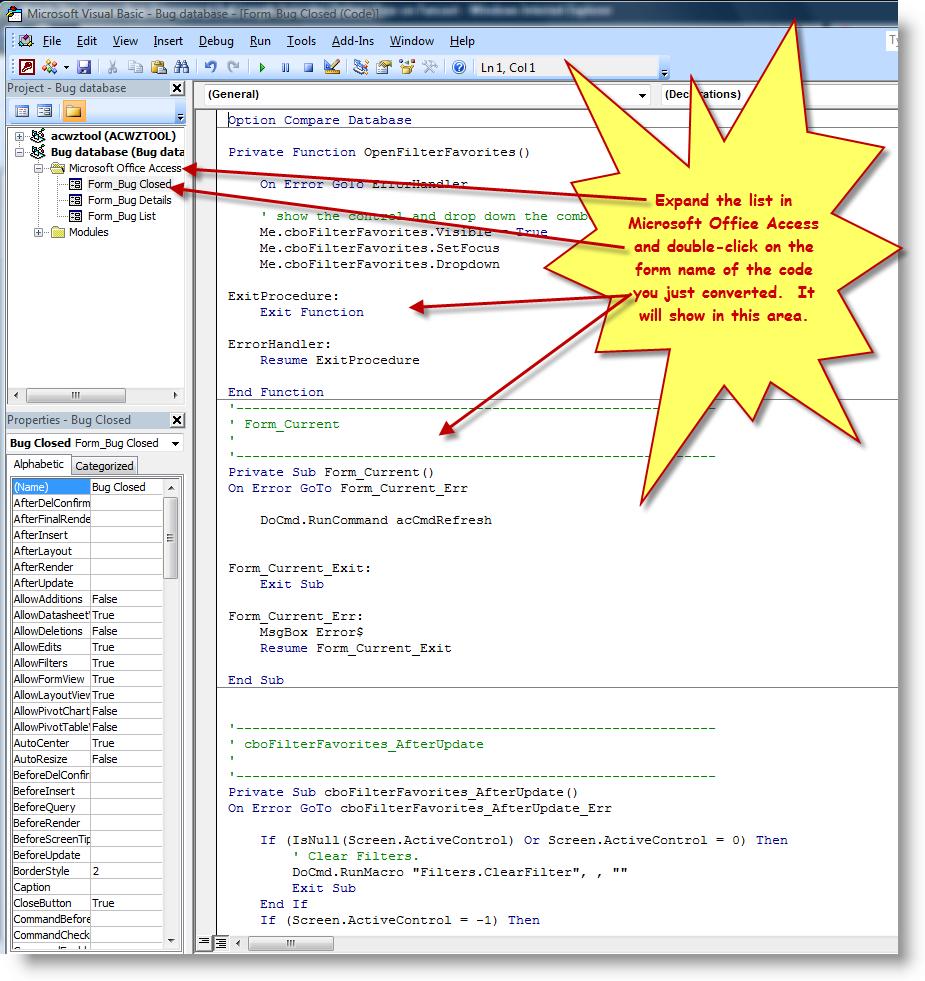 How To Convert Embedded Macros To Vba | BTAB Development